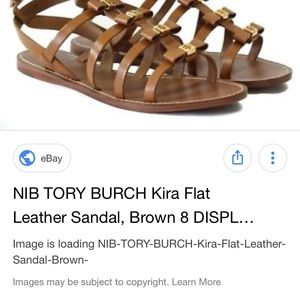 db8eca71c516 Tory Burch Shoes - Tory burch Kira flat leather sandal with bows tan